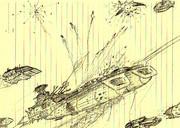 デスラー戦闘空母「死闘の始まり」
