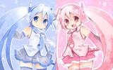 雪ミクと桜ミク
