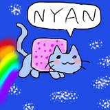 #iPhone で #Nyancat を描いてみた