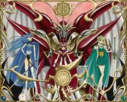 魔法騎士達と、合体魔神