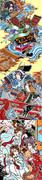 『和楽・千本櫻』 背景用 浮世絵原画