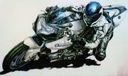 BMWのバイク模写