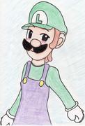 ルイージをZUN絵風に描いてみたかった