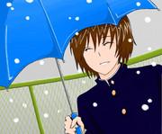 不二君が相合傘をしてくれるようです