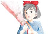 【アナログ絵】魔女の宅急便キキを描いてみた!【みかん】