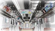 ちゃーりぃ式「JR中央線車内」ハイポリモデル