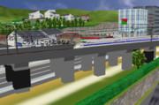 新幹線高架橋・・・
