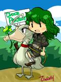 お絵かき大会「緑髪珍獣ハンタァァァ」