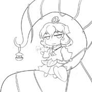 蔓の妖精【線画】