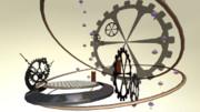 【MMD-OMF2】時計風ステージ
