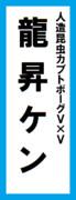 オールスター感謝祭の名前札(龍昇ケンver.)