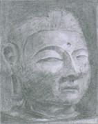 興福寺仏頭を描いてみた