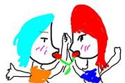 赤髪の歌姫と青髪の歌姫のコラボ・・・magnet///