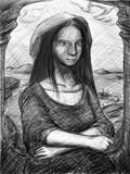 描いてうろ絵り~な課題で出した「モナリザの微笑」