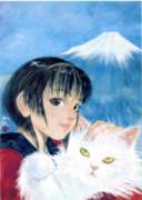 ◆  猫を 抱く 少女  ◇