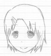 【昼休みに描いてみた】ピン止めした女の子
