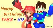 【MMD】猫村いろは誕生祭 いろは&ロック