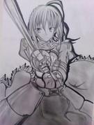 【Fate/Zero】底辺がセイバーたん描いてみまみた。