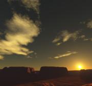 荒野の夕焼け