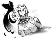 [えんぴつで描けてみた] ニミュエ(Sonic&the Black Knight)