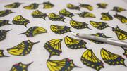 【切り絵】彩り溢れる蝶羽