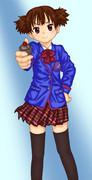 純ちゃんに天ノ川学園高校の制服着せてみた