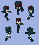【Minecraft】ケイブスパイダーパーカー
