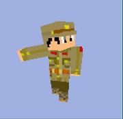 Minecraft用スキン 日本兵 サンプル