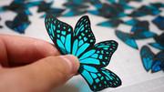【切り絵】マダラ蝶って美しい