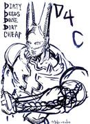 筆ペンでD4Cを描いてみましたよ