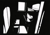 切り絵 ピアノ練習室