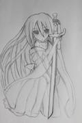 最強の剣舞姫〈レン・アッシュベル〉を描いてみた