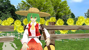 ニコ童祭で使用した1カット 向日葵の少女