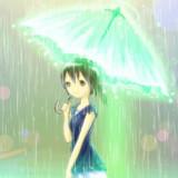 ビーム傘と女の子【GIFアニメ】