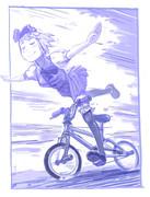 自転車も得意だみょん!