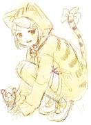 【ラフ】鏡音リン&レン「ねこリン&ねずレン」