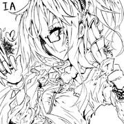 カッコイイIAさん【線画】