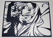 【切り絵】黒雪姫【アクセルワールド】
