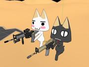 トロとクロ、射撃なう【MMD】
