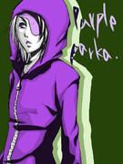紫パーカー