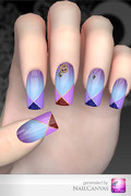 【ネイルデザインサンプル】 Modern solid purple