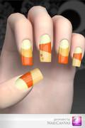 【ネイルデザインサンプル】 Solid orange