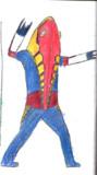 メトロン星人(三代目)色鉛筆で書いてみた