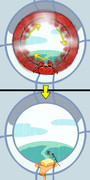 カニの侵入を許す宇宙船のセキュリティーって。