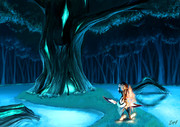 夜の森にて。。。