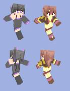 【Minecraft】エンダー擬人化2人【再現】