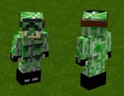 【Minecraft】軍服:戦闘服アーマー改(クリーパー迷彩)