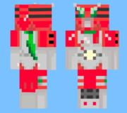 minecraftのスキン→仮面ライダーZXを作ってみた