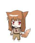 賢狼ホロ(背景無し)