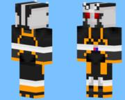 minecraftのスキン→仮面ライダー『ロボライダー』を作ってみた